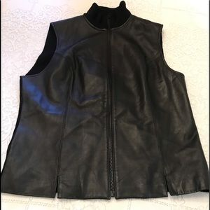 Black Investments Lamb Skin Vest Jacket Size Med